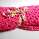 Hot Pink Crochet Baby Blanket