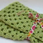 Green Crochet Baby Blanket