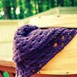 Plum Crocheted Baby Blanket