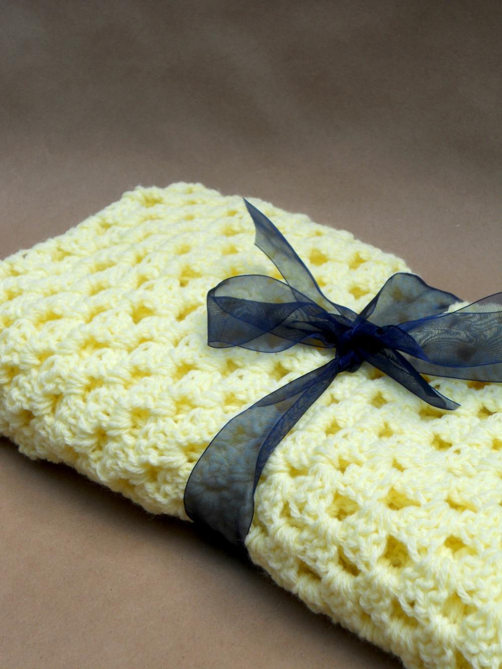 Crochet Baby Blanket Yellow