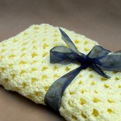 Crochet Baby Blanket Yellow
